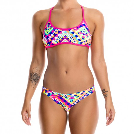 Funkita White Diamond Tie Down Bikini