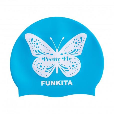Funkita Pretty Fly Blue Swim Cap Badmuts