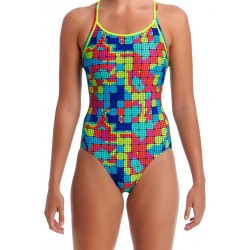 Funkita Heat Map Diamond Back Badpak Ladies