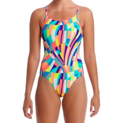 Funkita Pastel Panel Diamond Back Badpak Ladies