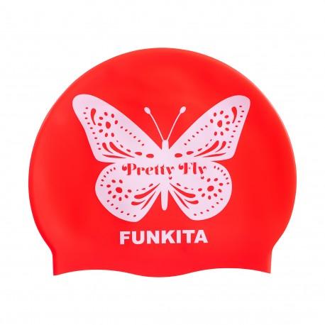Funkita Pretty Fly Pink Swim Cap Badmuts